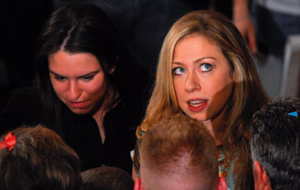 chelsea clinton close up