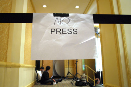 no press sign